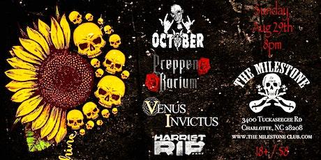 OCTOBER w/ PREPPEN BARIUM, VENUS INVICTUS & HARRIET RIP at The Milestone tickets