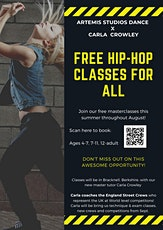 FREE summer Hip Hop Workshop Masterclasses tickets