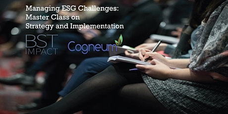 Managing ESG Challenges: Master Class on Strategy and Implementation tickets