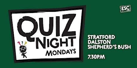 Pub Quiz @ Escape Dalston tickets