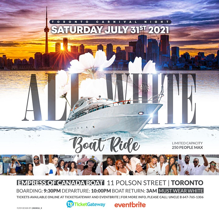 ALL WHITE BOAT RIDE image