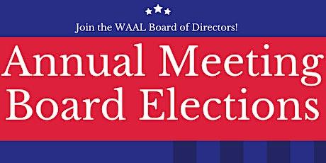 2021 WAAL Annual Meeting tickets
