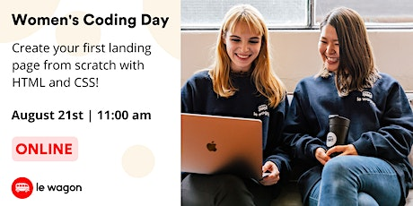 Women's Coding Day - Learn to code for free in August! tickets