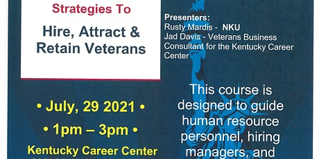 Strategies to Hire, Attract & Retain Veterans in the Workplace tickets