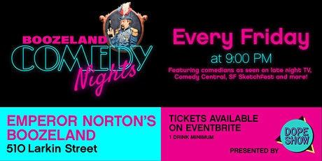 Boozeland Comedy Nights: Live Stand-Up Comedy in Downtown San Francisco tickets