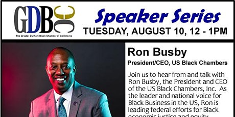 GDBCC Speaker Series presents Ron Busby tickets