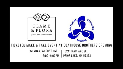 Ticketed Make & Take Event at Boathouse Brothers Brewing tickets