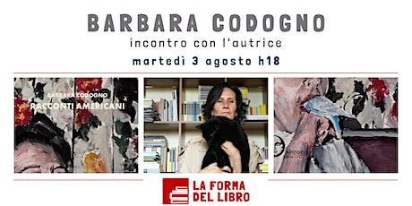 """Barbara Codogno presenta """"Racconti americani"""" biglietti"""