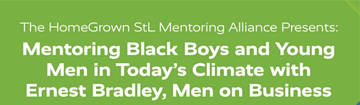 Mentoring Black Boys and Young Men in Today's Climate image