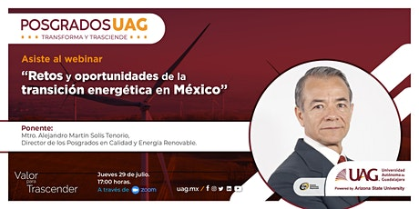 """""""Retos y oportunidades de la transición energética en México"""". entradas"""