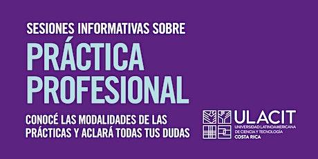 Práctica Profesional: Sesiones informativas tickets