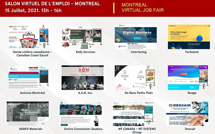 Foire D'emploi De Montréal - Jeudi 15 juillet 2021 image