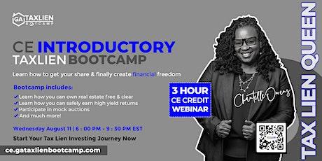 Introductory GA Tax Lien Bootcamp Live Webinar  [August 11, 2021] tickets