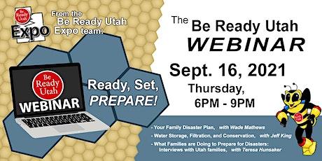 2021 Fall Be Ready Utah Webinar: Ready, Set, Prepare! tickets