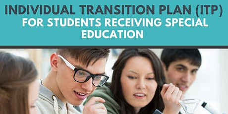 Individual Transition Plan for Students Receiving Special Education tickets