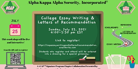 AKA #CAP℠ Boot Camp Part I - Essay Writing & Letters of Recommendations tickets