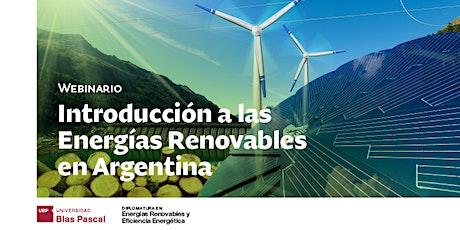 Webinario> Introducción a las Energías Renovables en Argentina entradas