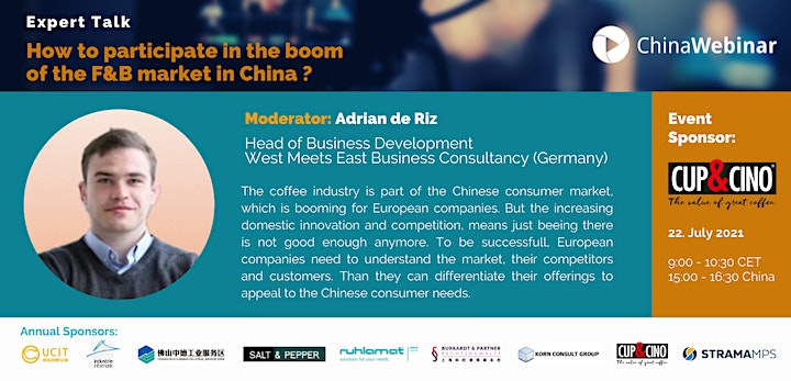 """""""How to participate in the boom of the F&B market in China"""": Bild"""