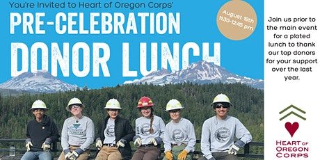 Pre-Celebration Donor Lunch tickets