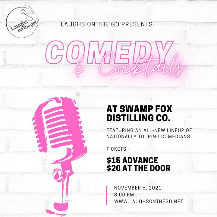 Comedy and Cocktails at Swamp Fox Distilling Co. image