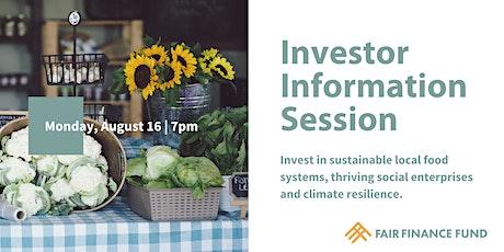 Investor Information Session tickets
