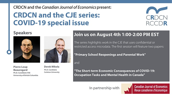 CRDCN and the Canadian Journal of Economics series: COVID-19 special issue image