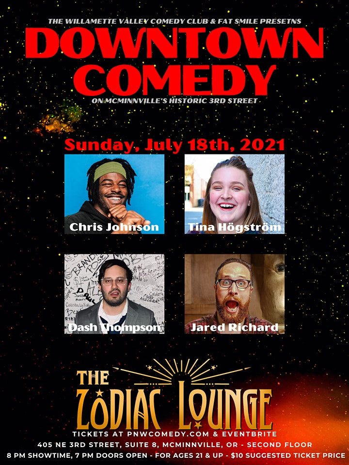 Downtown Comedy in McMinnville! image