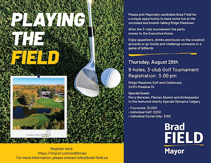 Golf Charity Classic with Mayoral Candidate, Brad Field image