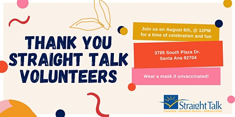 Straight Talk Counseling's Volunteer Appreciation Event tickets