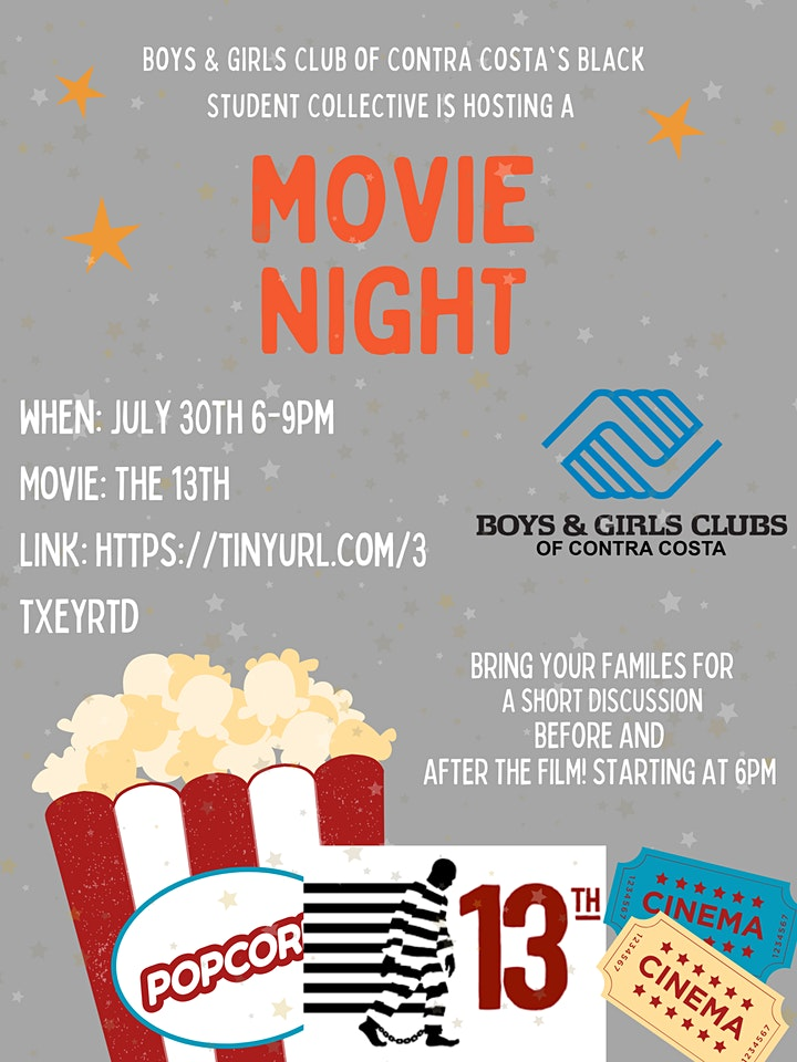 13th movie night with  the BGCCC Black Student Collective image