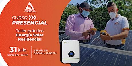 Curso Presencial: Energía Solar Residencial Conectada a Red entradas
