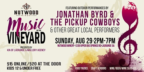 Nutwood Winery's Music in the Vineyard w/Jonathan Byrd & The Pickup Cowboys tickets