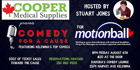 Cooper Medical Supplies presents Comedy for a Cause for Motionball tickets