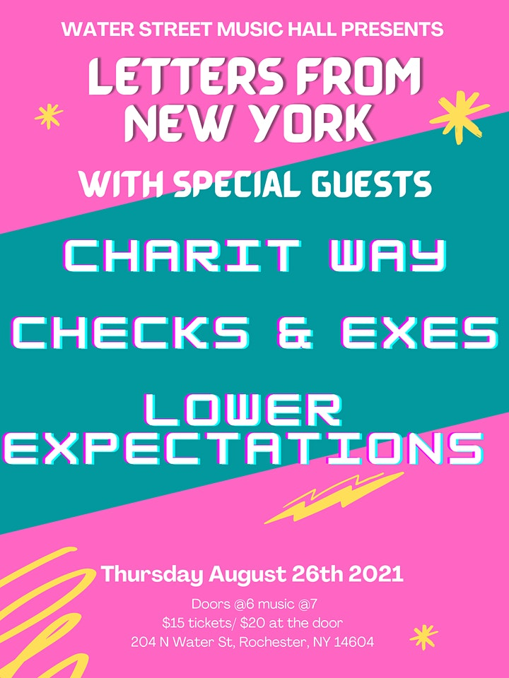 Letters From New York w/ Charit Way, Checks & Exes, and Lower Expectations image