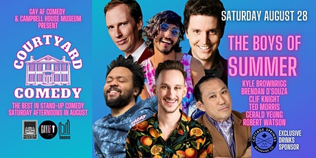Courtyard Comedy August 28 - The Boys of Summer tickets