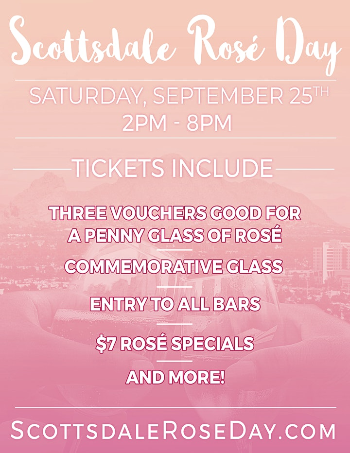 Scottsdale Rosé Day - An All Day Rosé Party in Old Town! image
