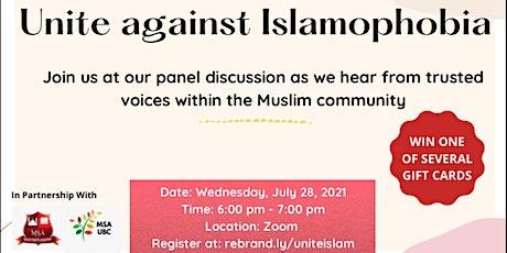 Unite Against Islamophobia tickets