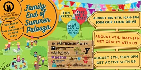 FREE Family End of Summer Palooza tickets