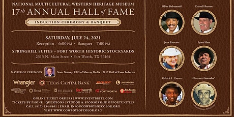 Natl. Multicultural Western Heritage Museum Hall of Fame Induction Banquet tickets