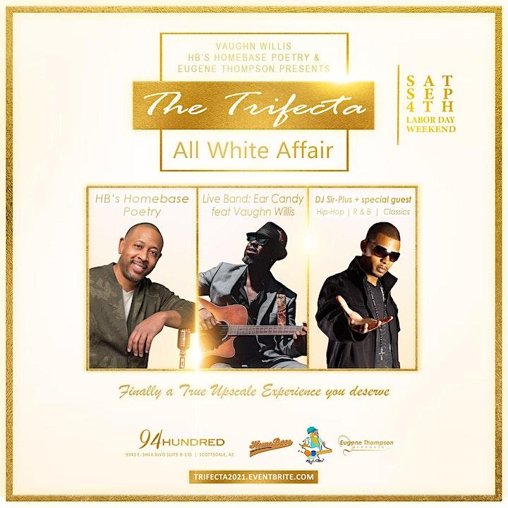 The Trifecta:  All  White  Affair image