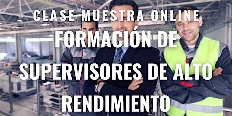 """Clase Muestra GRATUITA """"Formación de Supervisores de Alto Rendimiento"""". entradas"""