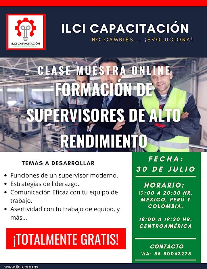 """Imagen de Clase Muestra GRATUITA """"Formación de Supervisores de Alto Rendimiento""""."""