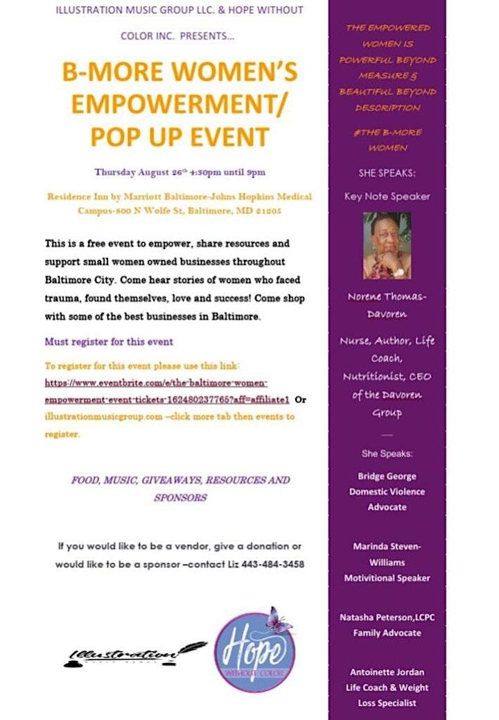 The Baltimore Women Empowerment Event image