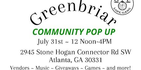 Greenbriar Community Pop Up tickets