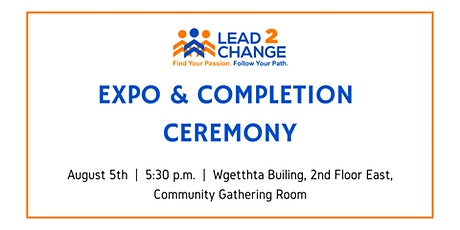Lead2Change's Expo & Completion Ceremony tickets