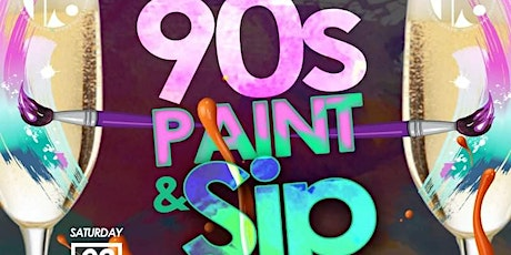 90s Paint and Sip tickets