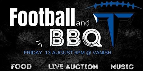 Football and BBQ Fundraiser 8/13, 6pm @ Vanish tickets