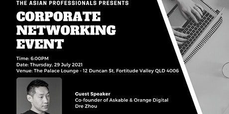 TAP Networking Event - 29 July 2021 at The Palace Lounge tickets