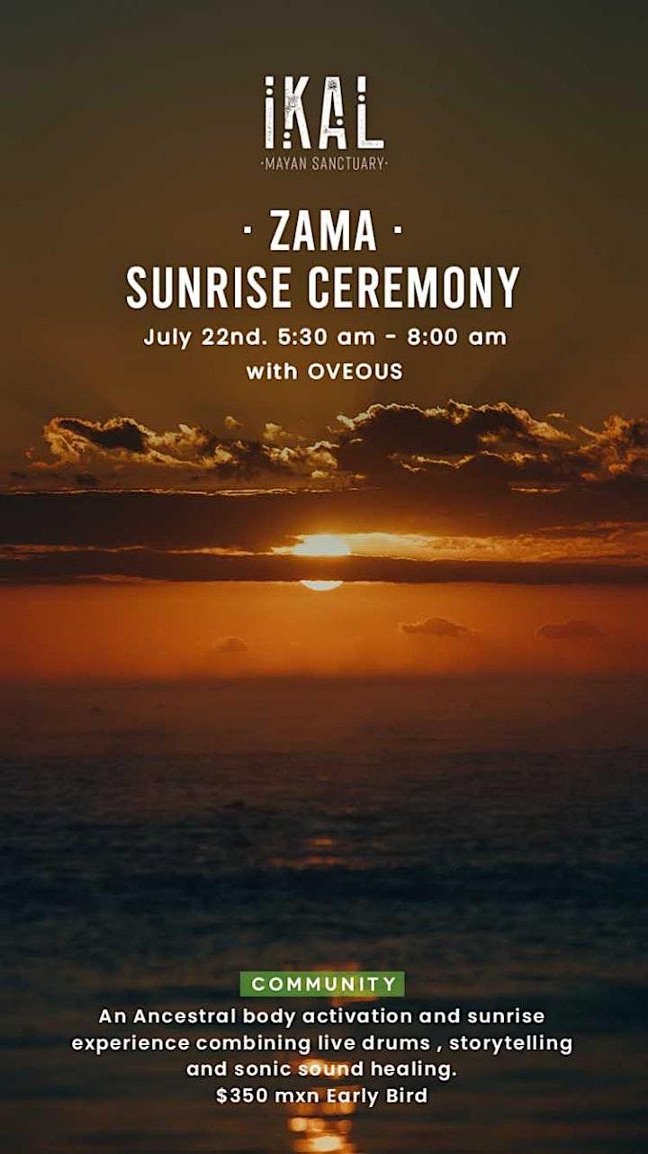 Imagen de · ZAMA · Sunrise Ceremony with OVEOUS