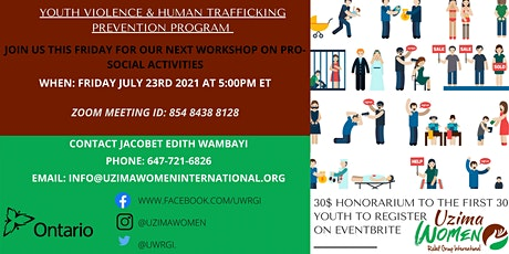 YOUTH VIOLENCE & HUMAN TRAFFICKING PREVENTION PRO-SOCIAL ACTIVITIES tickets